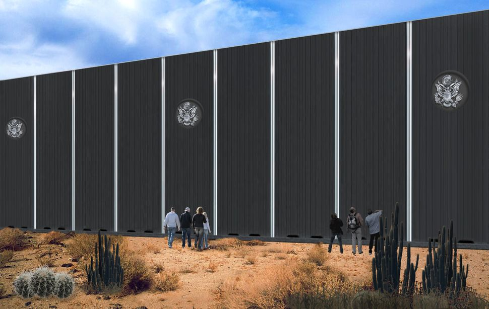 "PennaGroup's design proposal for the ""Solid, Concrete Border Wall."""