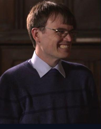 Monkman looked delighted to meet Professor Stephen