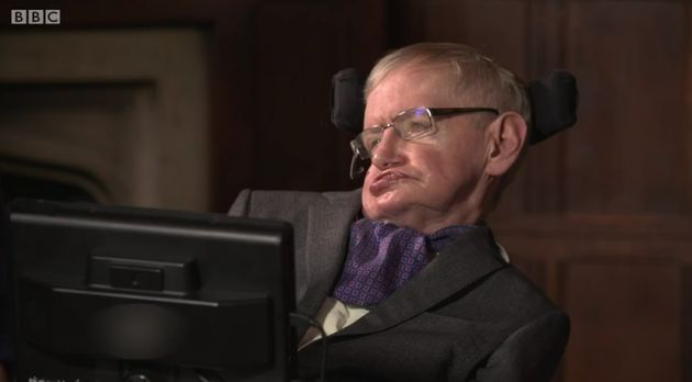 Fans were shocked when Stephen Hawking appeared to present Balliol College, Oxford with their
