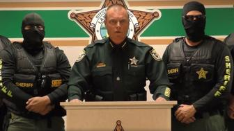 A screen grab from Lake County Sheriff Peyton Grinnells bizarre new video