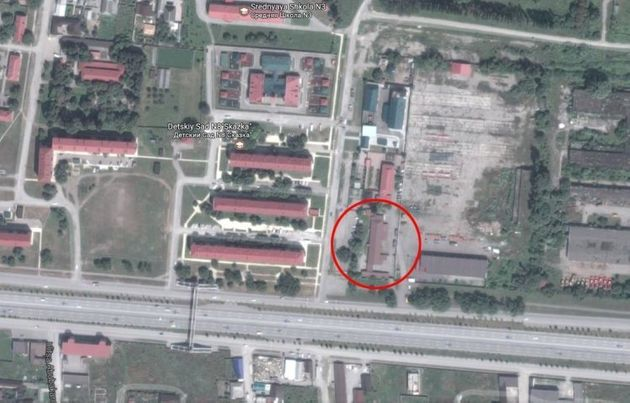 A satellite image of the alleged camp in