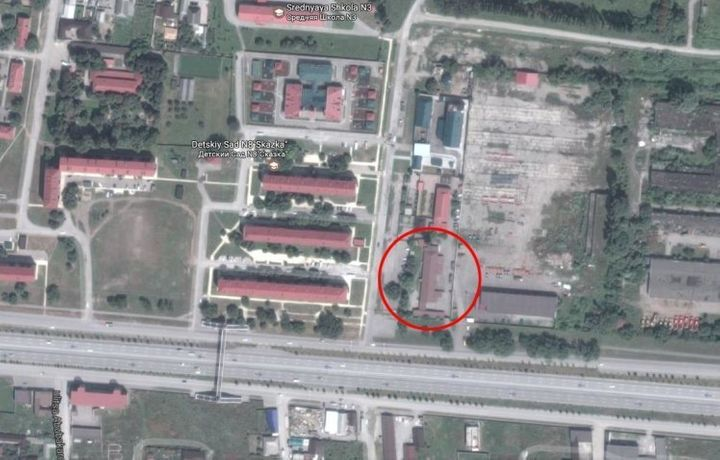 A satellite image of the alleged camp in Argun
