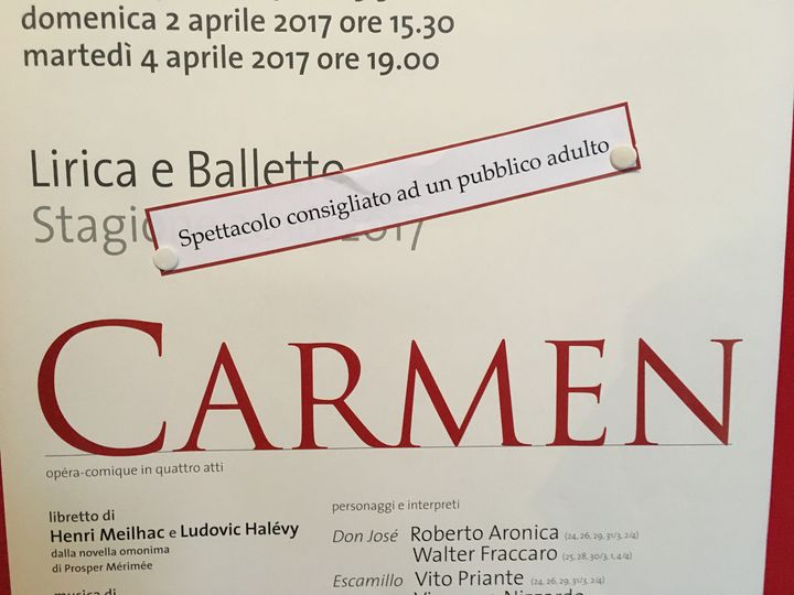 <p>This R-rated production of Carmen at the Teatro la Fenice was the ostensible reason for our trip to Venice</p>