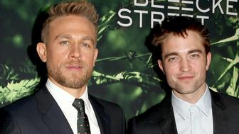 HOLLYWOOD, CA - APRIL 05:  Actors Charlie Hunnam (L) and Robert Pattinson attend the premiere of Amazon Studios' 'The Lost City Of Z' at ArcLight Hollywood on April 5, 2017 in Hollywood, California.  (Photo by Rich Fury/Getty Images)