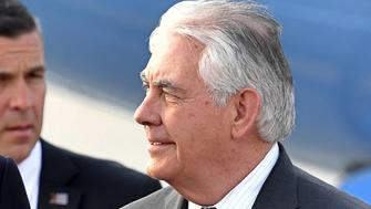 US Secretary of State Rex Tillerson arrives at the Vnukovo II Government airport in Moscow on April 11, 2017.  Tillerson arrived in Moscow on April 11 to confront the Russian leadership over its support for President Bashar al-Assad's Syrian regime. Before setting off for Moscow, Tillerson told a G7 foreign ministers' meeting in Italy that Russia should rethink its alliance in the light of the latest alleged chemical attack in Syria.  / AFP PHOTO / Alexander NEMENOV        (Photo credit should read ALEXANDER NEMENOV/AFP/Getty Images)