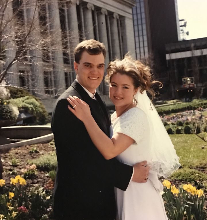 <p>Our wedding day, April 11, 1997</p>