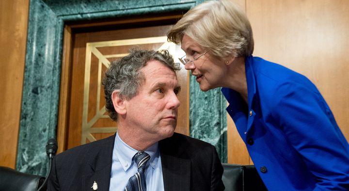 Senators Sherrod Brown (D-Ohio) and Elizabeth Warren (D-Mass.)
