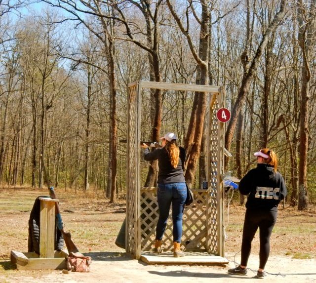 <p>Clay shooting, Schrader's Outdoors, MD</p>