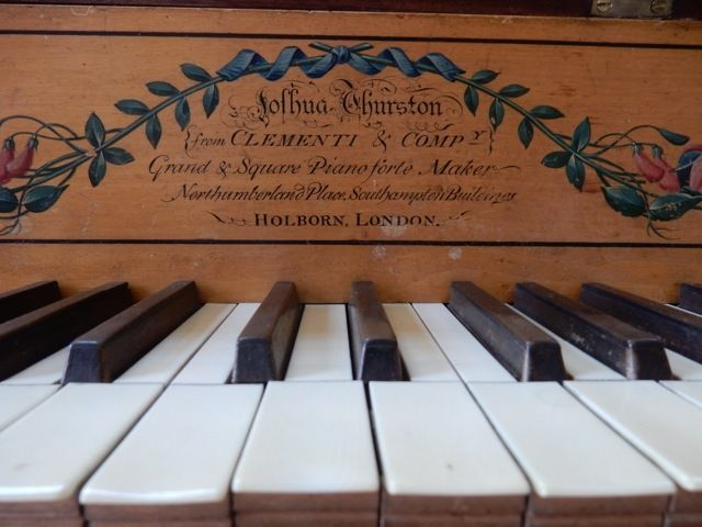 <p>Clementi & Co. <em>Piano Forte, </em>Poplar Hill Mansion, Salisbury MD</p>