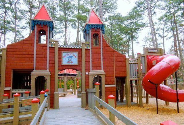 <p>Ben's Red Swings, Salisbury Zoo MD</p>