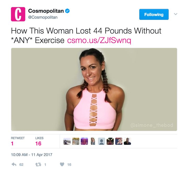 Cosmo's Headline About Cancer Survivor's Weight Loss Is A Doozy