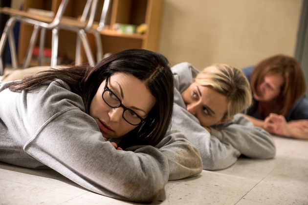 Alex and Piper take shelter as a mystery situation