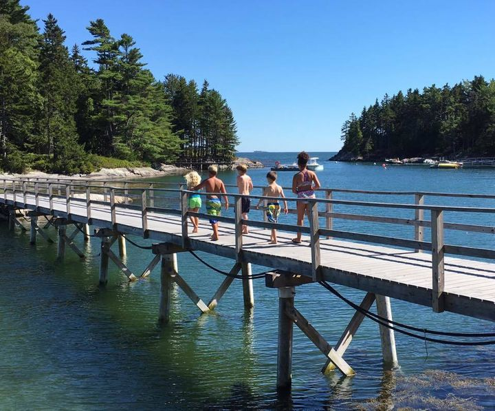 This bridge on our favorite island in Maine will be likely be underwater when my daughter is my age.