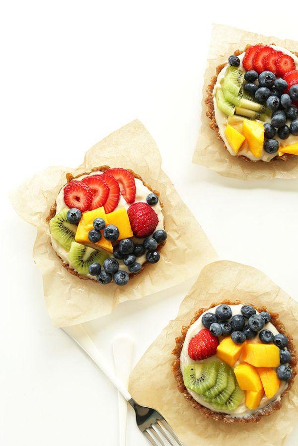 "<strong>Get the <a href=""http://minimalistbaker.com/no-bake-lemon-cookie-fruit-tarts/"" target=""_blank"">No-Bake Lemon Cookie T"