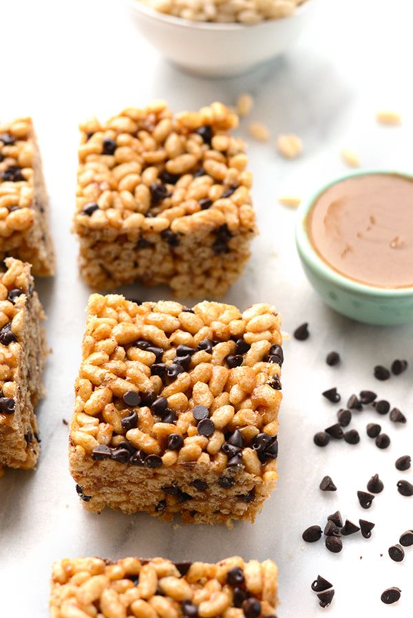 """<strong>Get the <a href=""""http://fitfoodiefinds.com/2016/03/almond-butter-rice-crispy-treats/"""" target=""""_blank"""">Almond Butter R"""