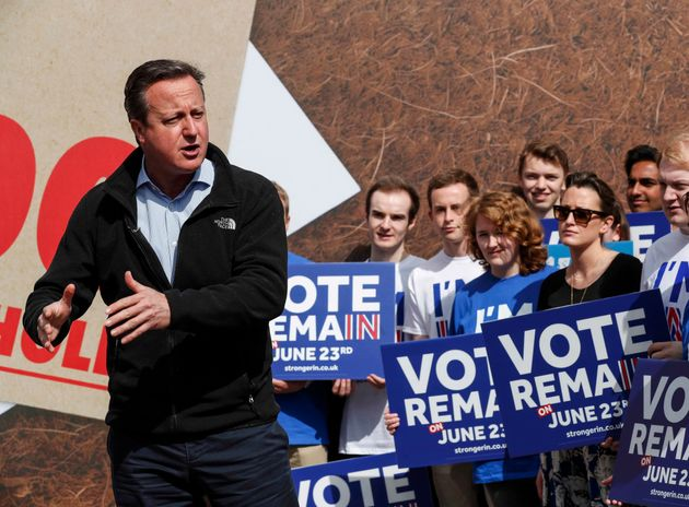 May 2016: David Cameron warns a vote to leave the EUcould tip the British economy back into