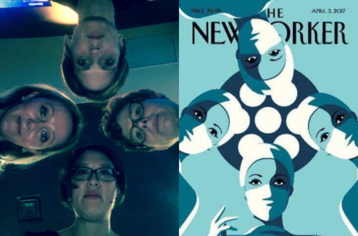 Surgeon Susan Pitt's photo vs. a recent New Yorker cover.