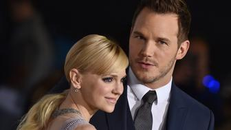 WESTWOOD, CA - DECEMBER 14:  Actors Anna Faris and Chris Pratt arrive at the premiere of Columbia Pictures' 'Passengers' at Regency Village Theatre on December 14, 2016 in Westwood, California.  (Photo by Axelle/Bauer-Griffin/FilmMagic)