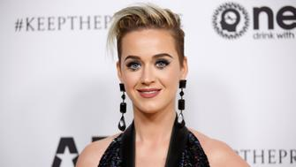 Singer Katy Perry poses at Elton John's 70th Birthday and 50-Year Songwriting Partnership with Bernie Taupin benefiting the Elton John AIDS Foundation and the UCLA Hammer Museum at RED Studios Hollywood in Los Angeles, March 25, 2017. REUTERS/Danny Moloshok