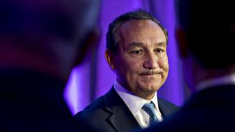 Oscar Munoz, chief executive officer of United Continental Holdings Inc., pauses while speaking to members of the media after a discussion at the U.S. Chamber of Commerce aviation summit in Washington, D.C., U.S., on Thursday, March 2, 2017. The 16th annual summit is entitled Technology, Innovation and the Future of Aviation. Photographer: Andrew Harrer/Bloomberg via Getty Images
