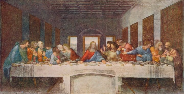 "Leonardo Da Vinci's iconic painting, ""The Last Supper,"" <a href=""http://www.huffingtonpost.com/entry/the-tiny-detail-you-may-"