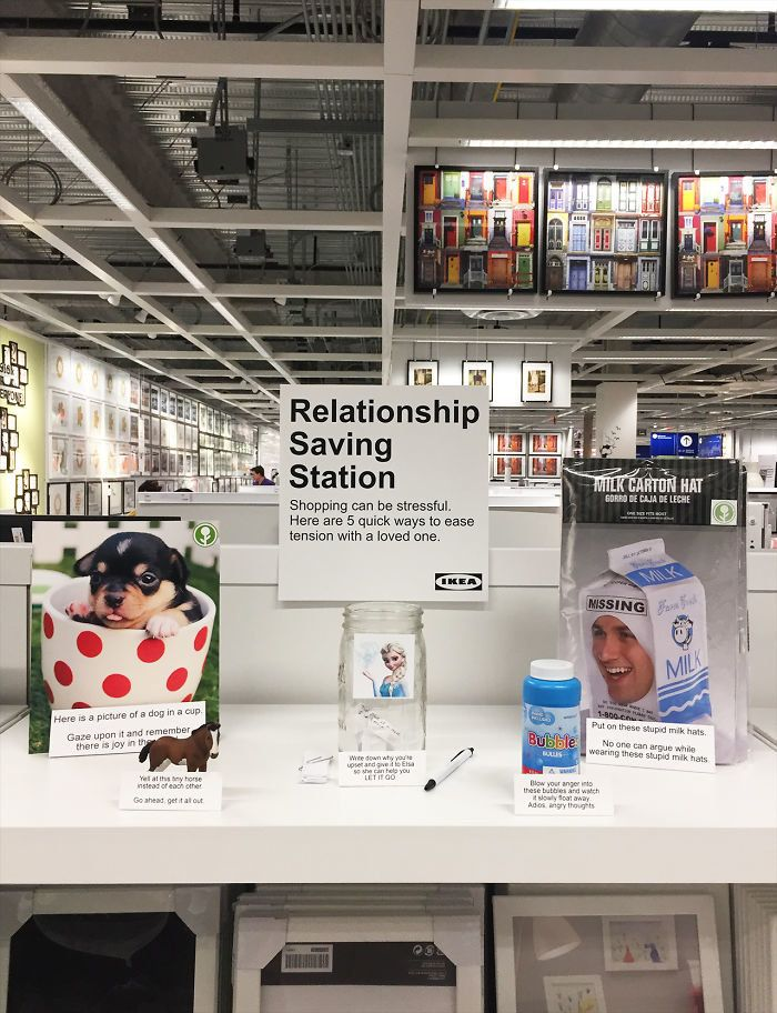 This Man Who Set Up 'Relationship-Saving Stations' In Ikea Is A