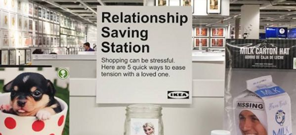 This Guy Put A 'Relationship Saving Station' In Ikea And It's What Every Couple Needs