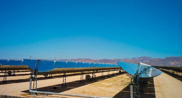 A solar farm in southern