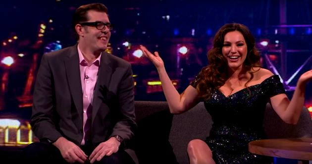 Kelly Brook, as the conversation turned to her 'lady