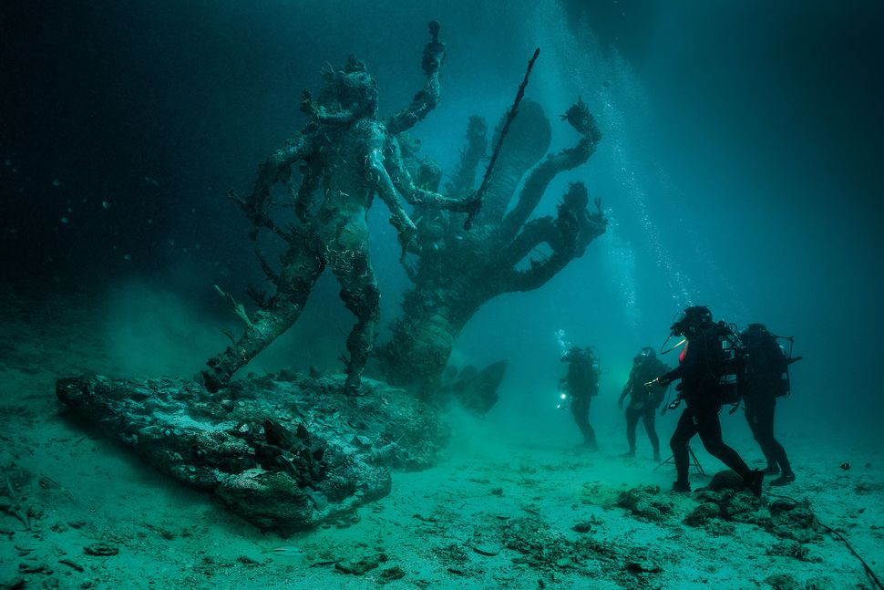 "Damien Hirst, ""Hydra and Kali Discovered by Four Divers."" Image: Christoph Gerigk."