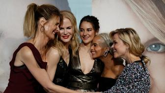"Cast members (L-R) Laura Dern, Nicole Kidman, Shailene Woodley, Zoe Kravitz and Reese Witherspoon pose at the premiere of the HBO television series ""Big Little Lies"" in Los Angeles, California U.S., February 7, 2017.   REUTERS/Mario Anzuoni"
