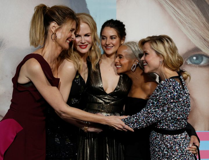 """Big Little Lies"" leading women Laura Dern, Nicole Kidman, Shailene Woodley, Zoe Kravitz and Reese Witherspoon appear at the"
