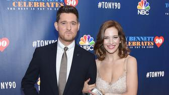 NEW YORK, NY - SEPTEMBER 15:  Michael Buble and Luisana Lopilato attend as Tony Bennett Celebrates 90: The Best Is Yet To Come at Radio City Music Hall on September 15, 2016 in New York City.  (Photo by Larry Busacca/Getty Images )