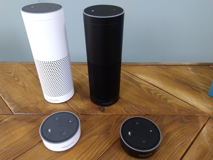 Google Home's competitor, the Amazon Echo, is pictured. Since the Echo's launch in 2015, an estimated 8.2 million Americans are believed to have purchased one.
