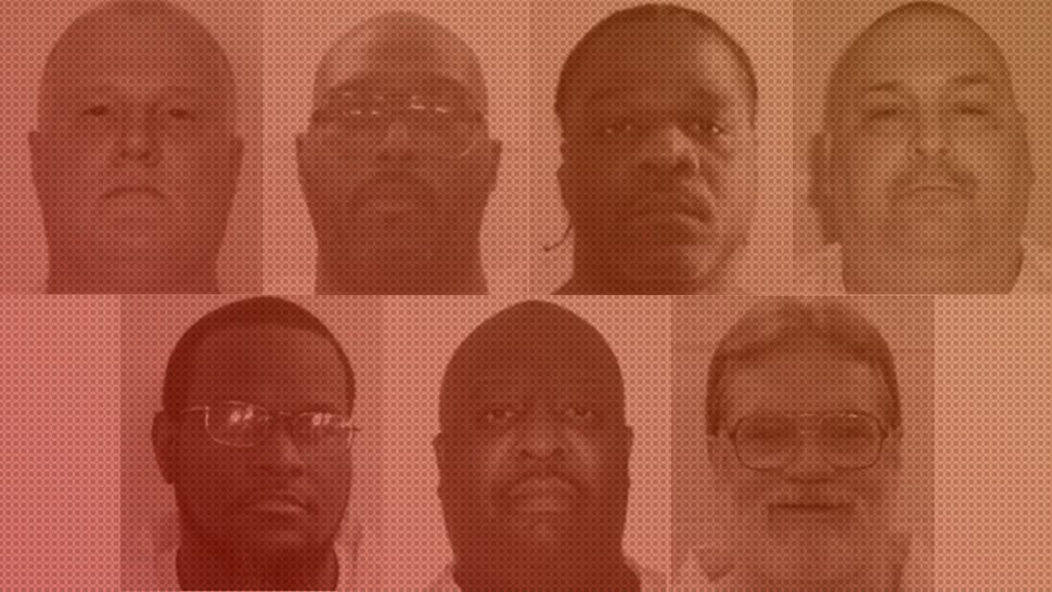 Photos of the seven men set for controversial rush executions in Arkansas.