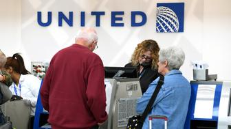 The United Airlines terminal on display at O'hare International Airport on Tuesday, April 11, 2017, in Chicago, IL. United Airlines lost nearly a billion dollars in market value this morning  one day after a video showed a man was dragged off an overbooked flight. (Photo by Patrick Gorski/NurPhoto via Getty Images)