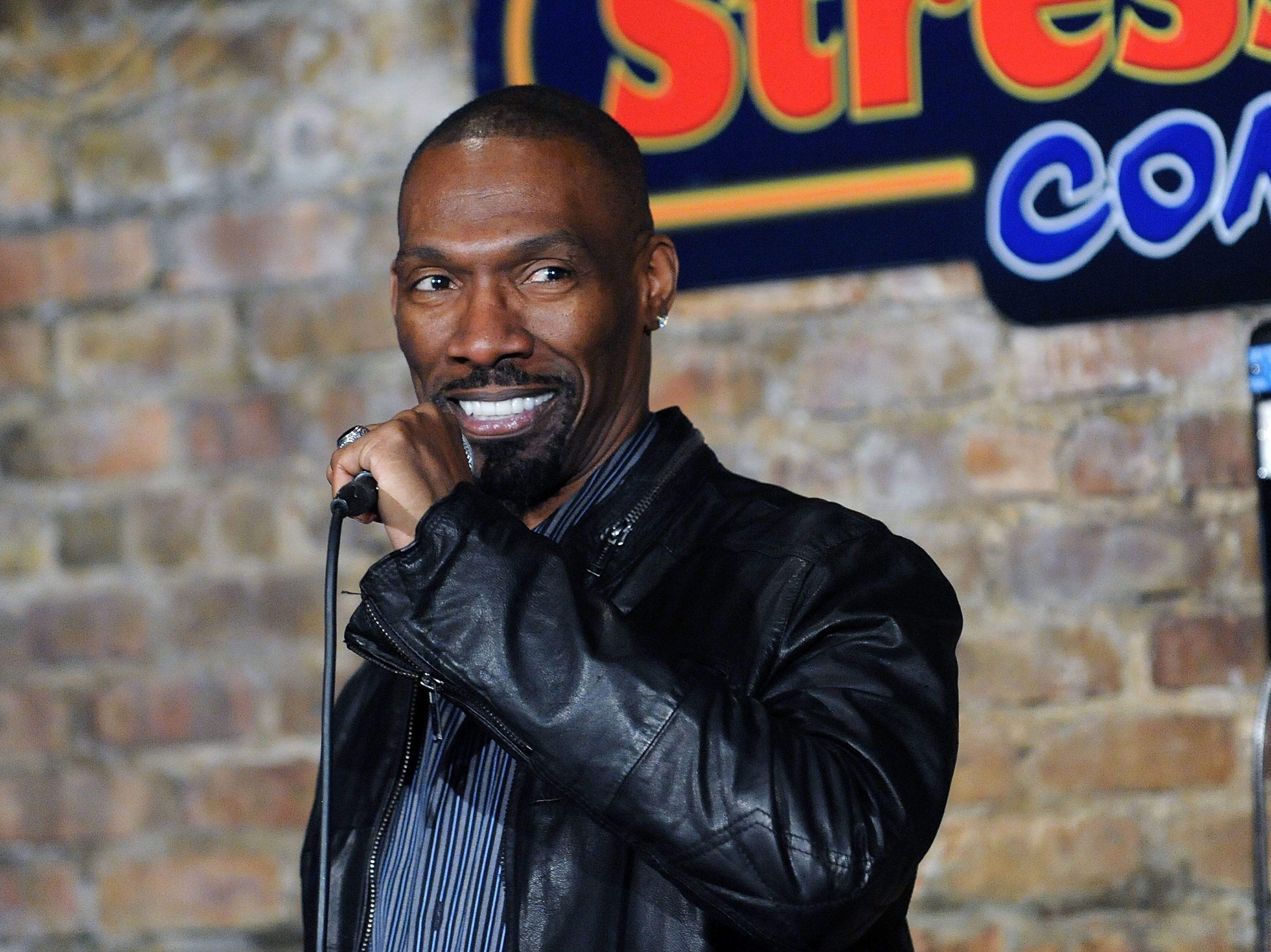 Charlie Murphy performing at the Stress Factory Comedy Club in 2014.
