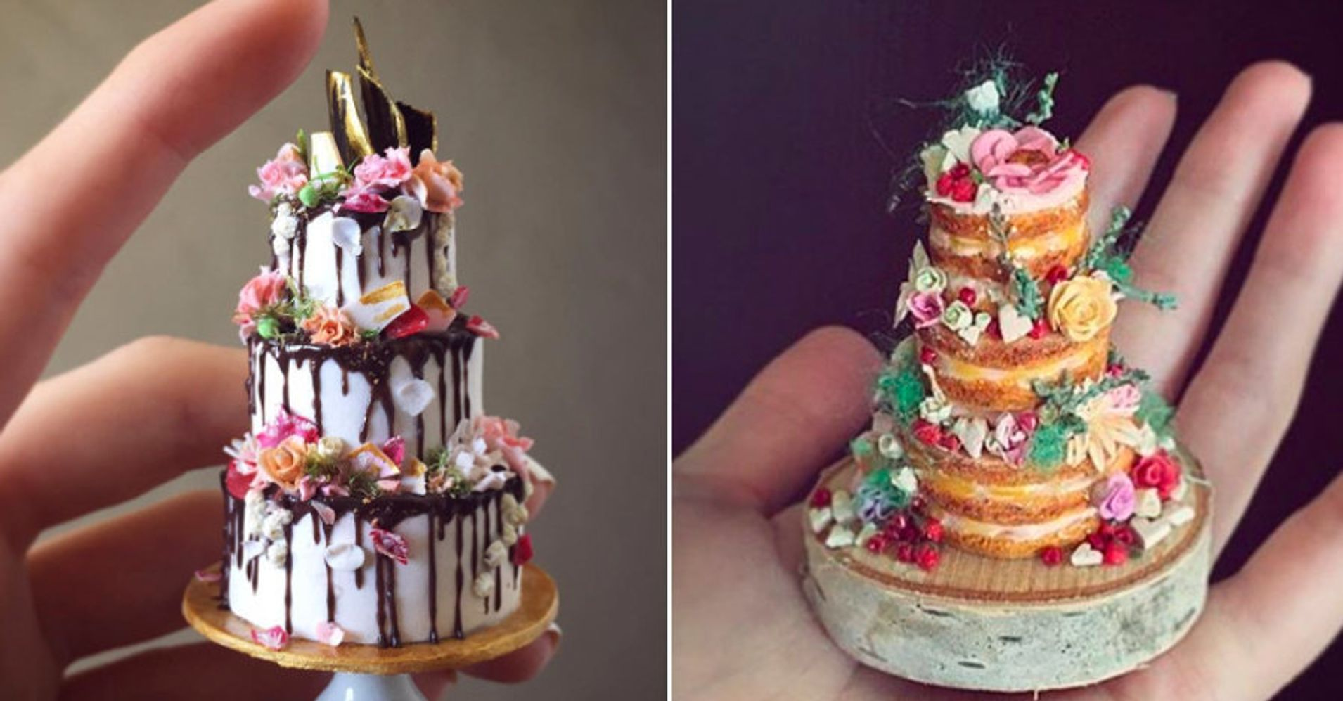 What Size Wedding Cake Do I Need: This Artist Will Make You A Teeny-Tiny Version Of Your