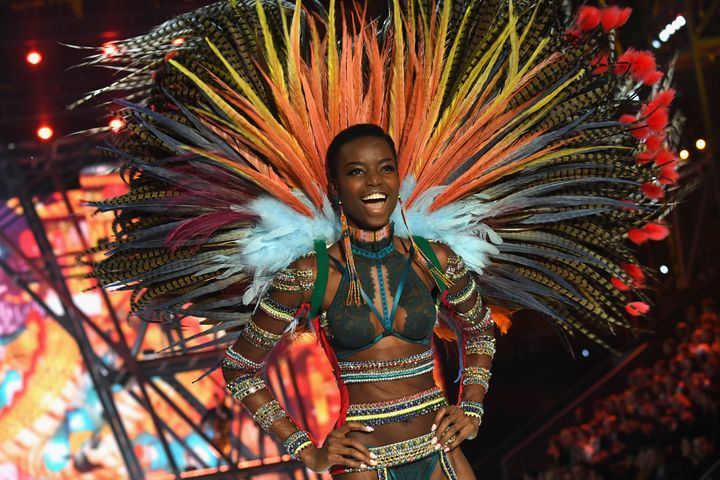 Maria Borges walks the runway at the Victoria's Secret Fashion Show on November 30, 2016 in Paris, France.