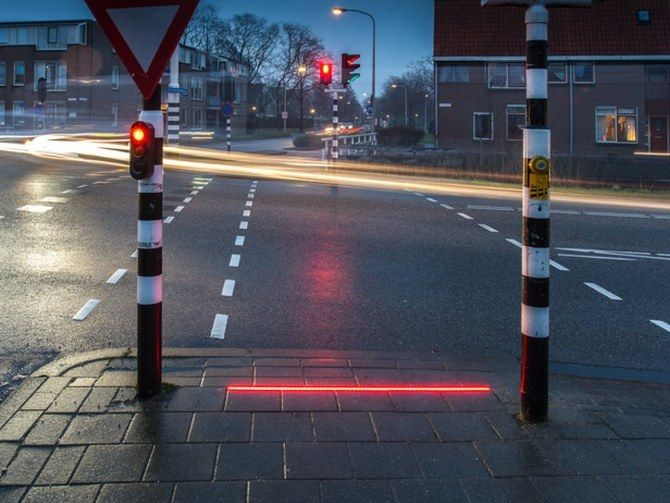 <p>A LED light strip has been set up in a small Dutch town to assist those pedestrians who are glued to their smartphones.</p>