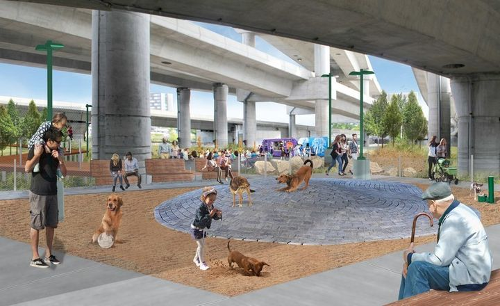 <p>The project will include a dog park.</p>