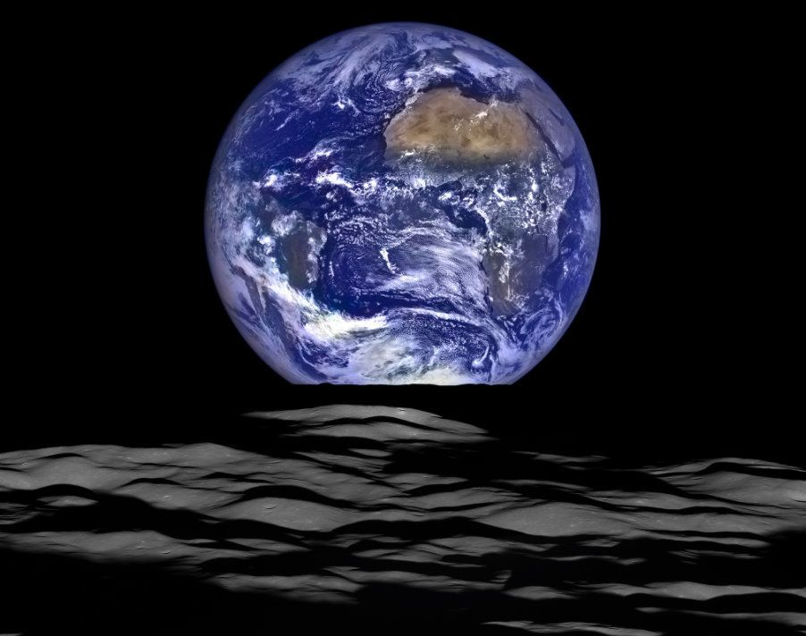 NASA's Lunar Reconnaissance Orbiter captured this unique view of Earth from the spacecraft's orbit around the moon.33