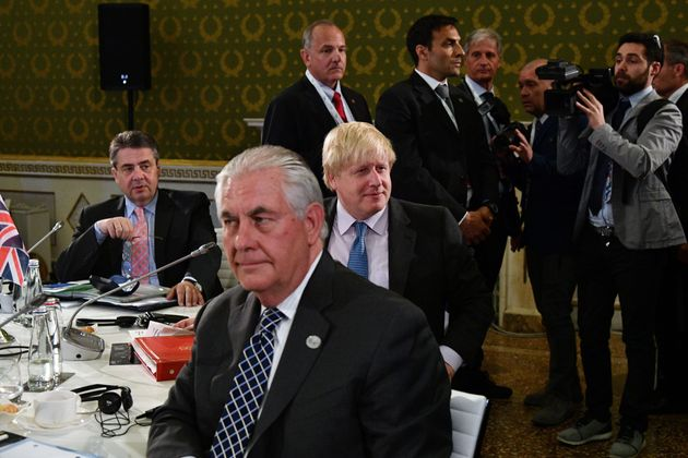 Johnson with his counterparts at the G7 summit in Italy on