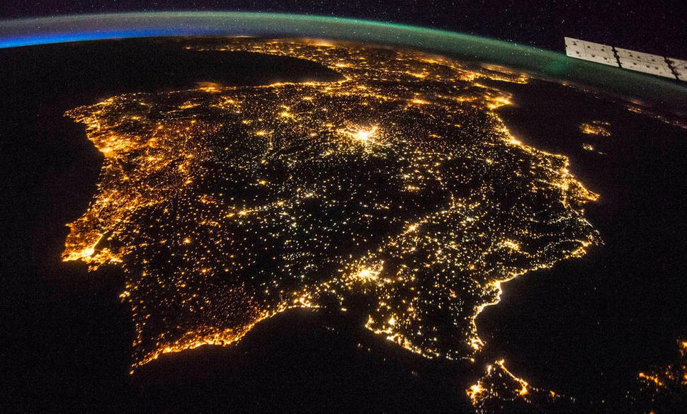 An ISS Expedition 40 astronaut took this early evening photo of the entire Iberian Peninsula on July 26, 2014. France is seen