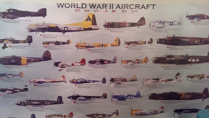 I could probably name most of the planes on this poster now without reading, the boy can definitely do it.