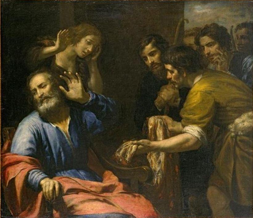 Giovanni Andrea de Ferrari, Joseph's Coat Brought to Jacob, 1640
