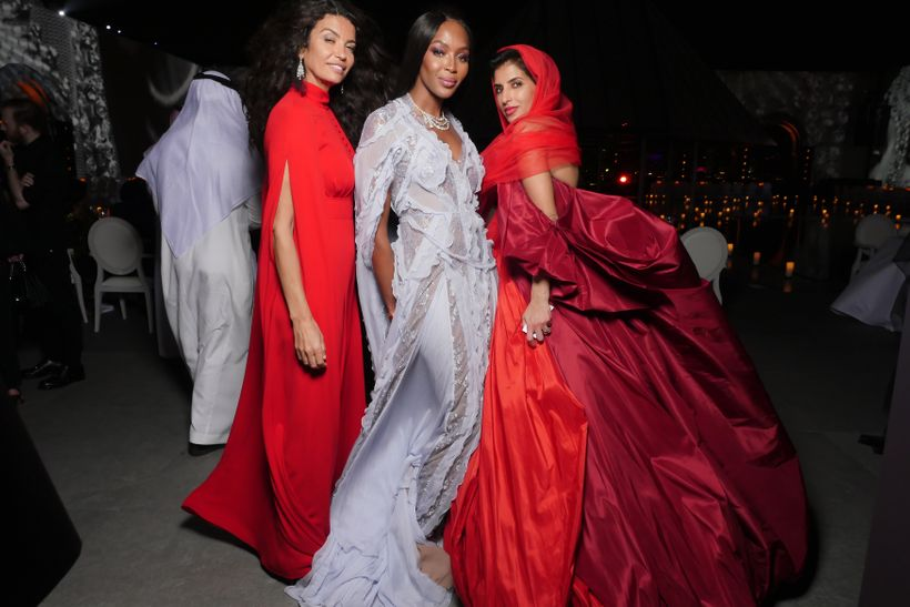 Afef Jnifen (left), Naomi Campbell (center) and Deena Aljuhani Abdulaziz (right) pictured at the Museum of Islamic Art