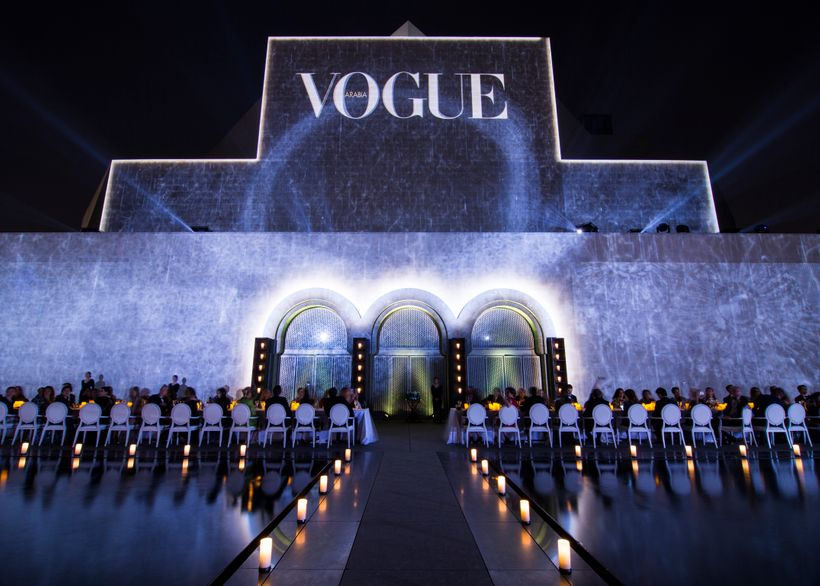 Vogue Arabia projection on the Museum of Islamic Art wall