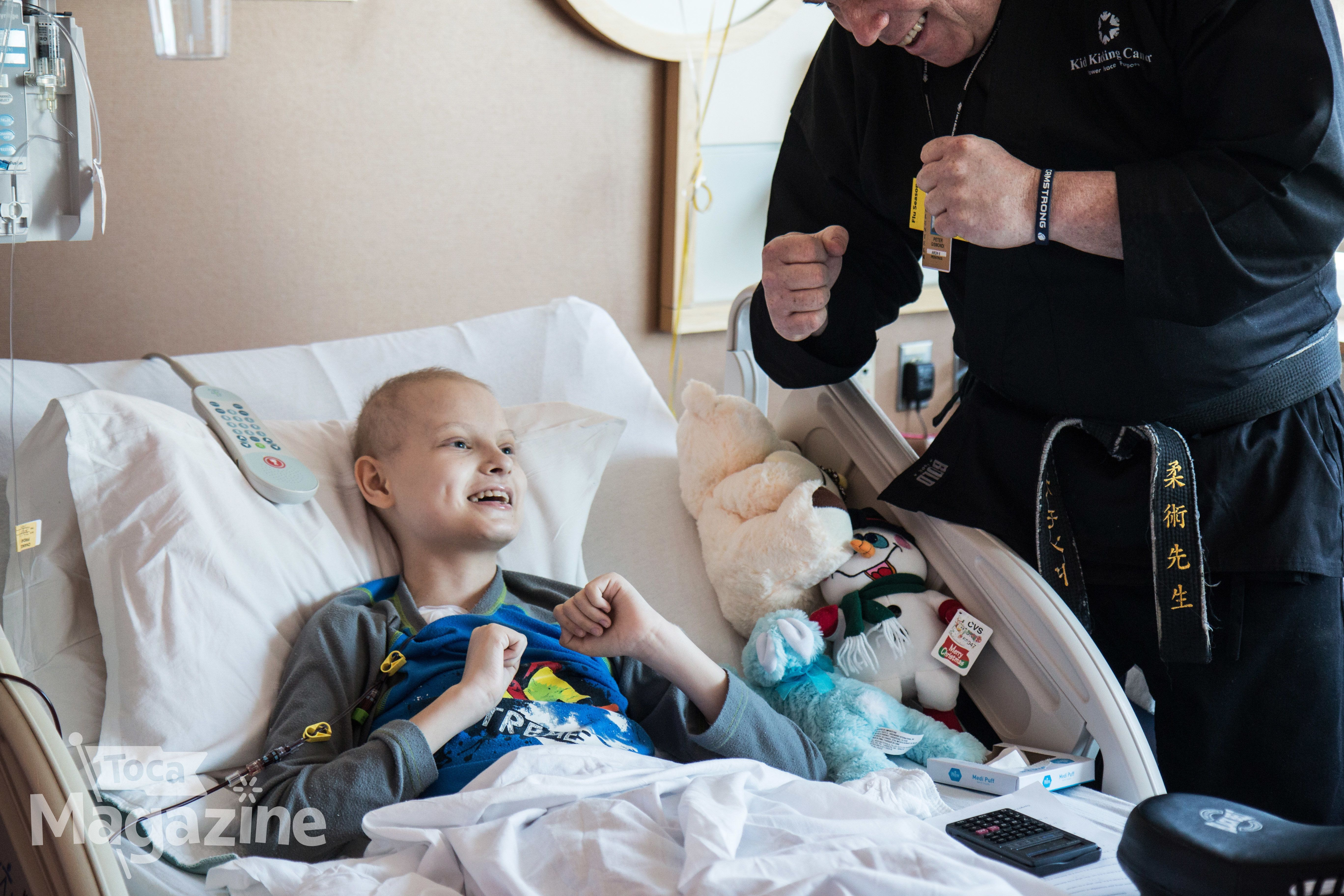 """""""Although the hospital can be filled with unfamiliar and sometimes scary and upsetting situations, it's a place where the business of childhood continues,"""" she said."""