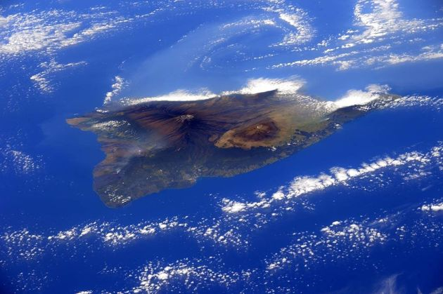 Hawaii's Big Island, as seen from the International Space Station in
